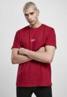 Tricou OFF EMB rubin-alb Mister Tee