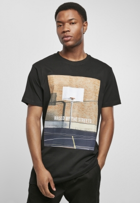 Tricou Raised By The Streets negru Mister Tee