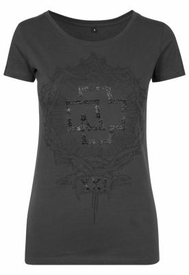 Tricou Rammstein XXI pentru Femei gri carbune