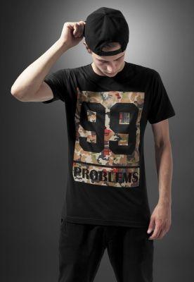 Tricou rap camuflaj cu mesaj 99 Problems negru Mister Tee