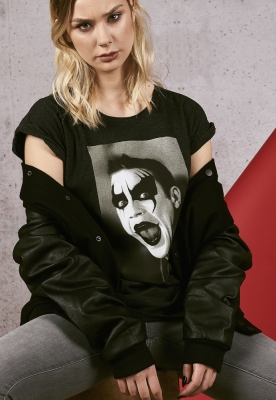 Tricou Robbie Williams Clown pentru Femei gri carbune Merchcode