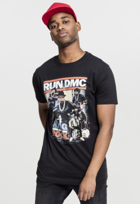 Tricou Run DMC King of Rock negru Mister Tee