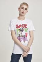 Tricou Salt N Pepa pentru Femei alb Merchcode