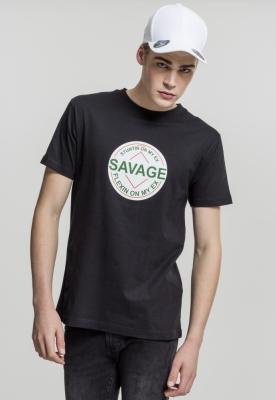Tricou Savage negru Mister Tee