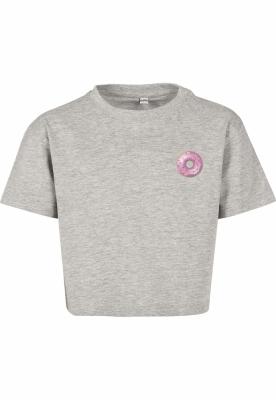 Tricou scurt Donut pentru Copii deschis-gri Mister Tee