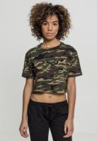 Tricou scurt lejer pentru Femei wood-camuflaj Urban Classics