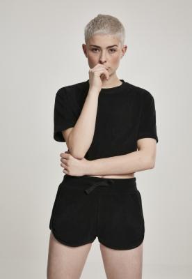 Tricou scurt pufos pentru Femei negru Urban Classics