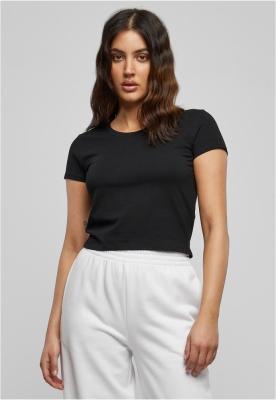 Tricou scurt Stretch Jersey pentru Femei negru Urban Classics