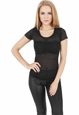 Tricou semi transparent femei