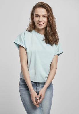 Tricou maneca scurta Short Pigment Dye pentru Femei seablue Urban Classics