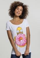 Tricou Simpsons Donut pentru Femei alb Merchcode