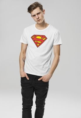 Tricou Superman Logo alb Merchcode
