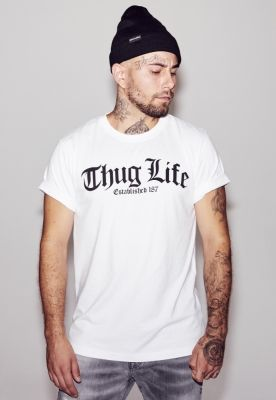 Tricou Thug Life Old English alb