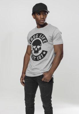 Tricou Thug Life Skull gri Mister Tee