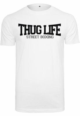 Tricou Thug Life Street Boxing alb