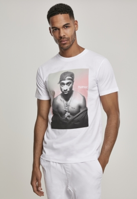 Tricou Tupac Afterglow alb Mister Tee