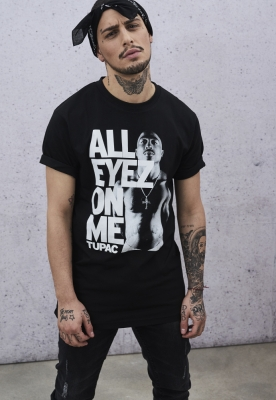 Tricou Tupac All Eyez On Me negru Mister Tee