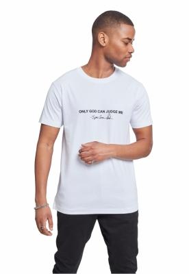 Tricou Tupac Cross alb Mister Tee