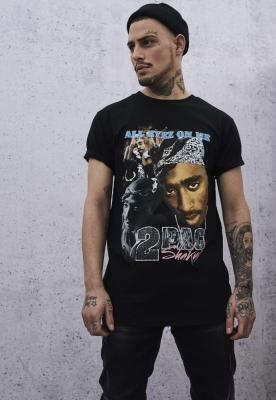 Tricou Tupac Retro negru Mister Tee