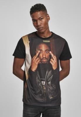 Tricou Tupac Trust Nobody negru Mister Tee