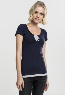 Tricou Two-Colored pentru Femei bleumarin-gri Urban Classics