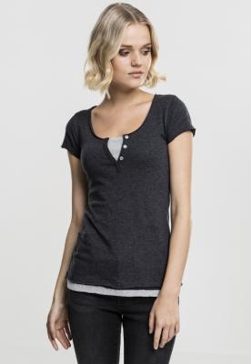 Tricou Two-Colored pentru Femei gri-carbune Urban Classics