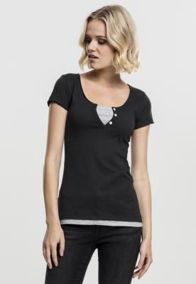 Tricou Two-Colored pentru Femei negru-gri Urban Classics