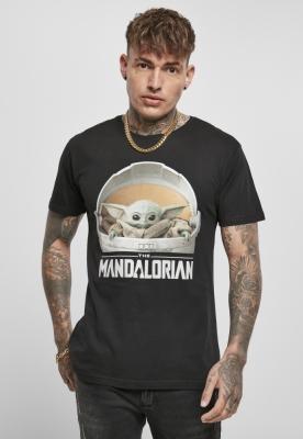 Tricou Yoda Mandalorian Logo pentru Bebelusi negru Merchcode