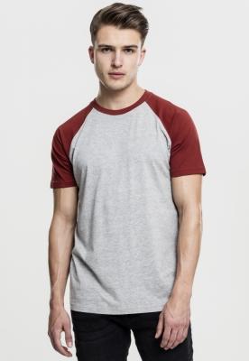Tricouri casual in doua culori pentru barbati gri-rusty Urban Classics