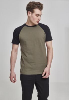 Tricouri casual in doua culori pentru barbati oliv-negru