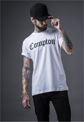Tricouri Compton pentru barbati alb Mister Tee