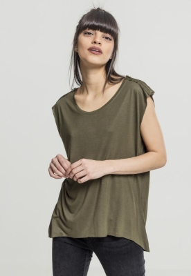 Tricou Shoulder Zip HiLo dama Urban Classics