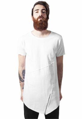 Tricouri fashion cu fermoar alb Urban Classics