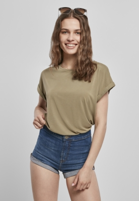 Tricouri maneca larga Modal pentru Femei kaki Urban Classics