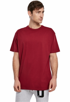 Tricouri simple Organic rosu burgundy Urban Classics