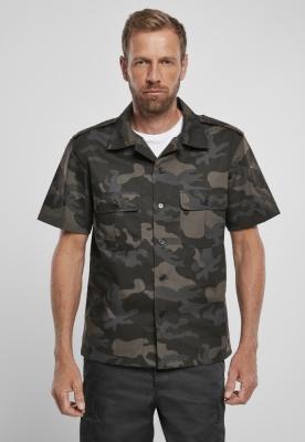 US Shirt Ripstop cu maneca scurta inchis-camuflaj Brandit
