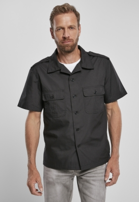US Shirt Ripstop cu maneca scurta negru Brandit