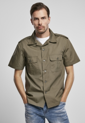 US Shirt Ripstop cu maneca scurta oliv Brandit