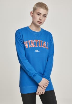 Virtual Crewneck pentru Femei Fete albastru-albastru Mister Tee