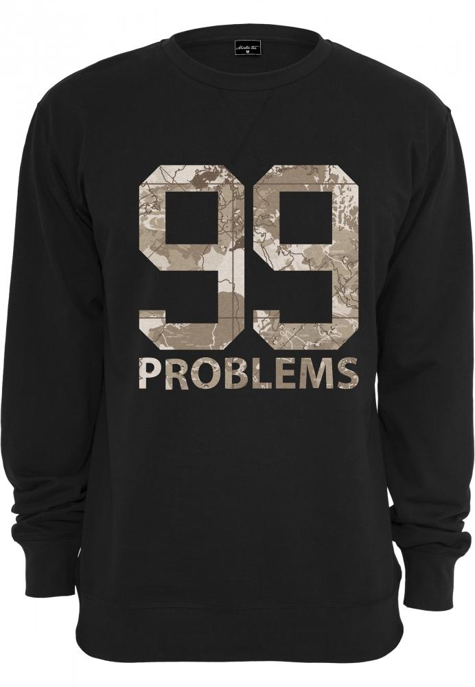99 Problems Desert Camo Crewneck Negru Mister Tee