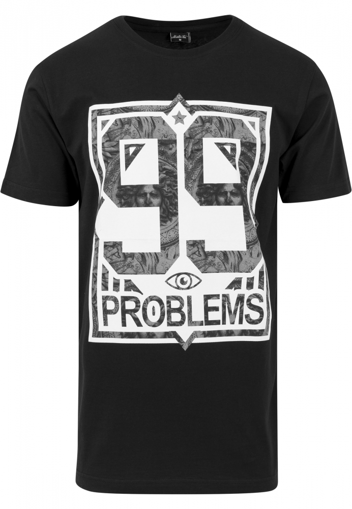 Tricouri Hip Hop 99 Problems Negru-marble Mister Tee