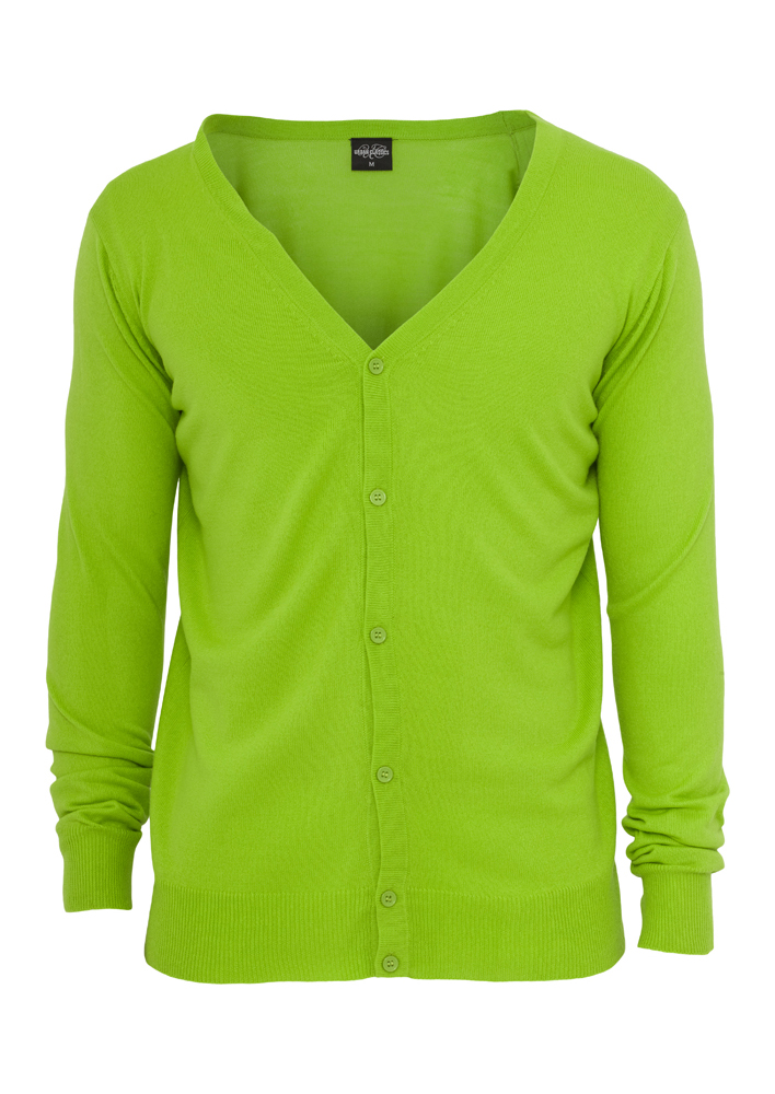 Cardigan Tricot Verde Lime Urban Classics