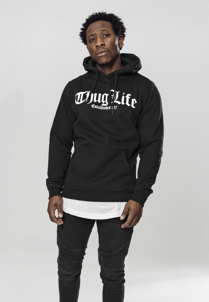 Hanorac Thug Life Old English Negru Mister Tee