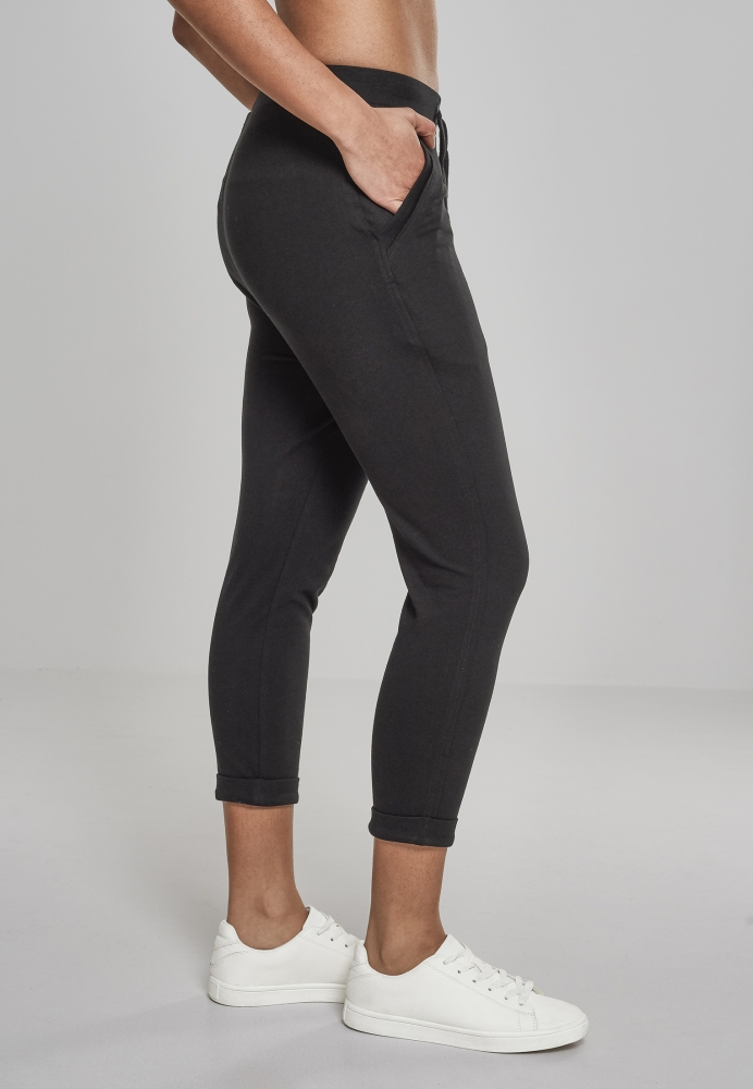 Pantaloni Open Edge Terry Turn Up dama Urban Classics