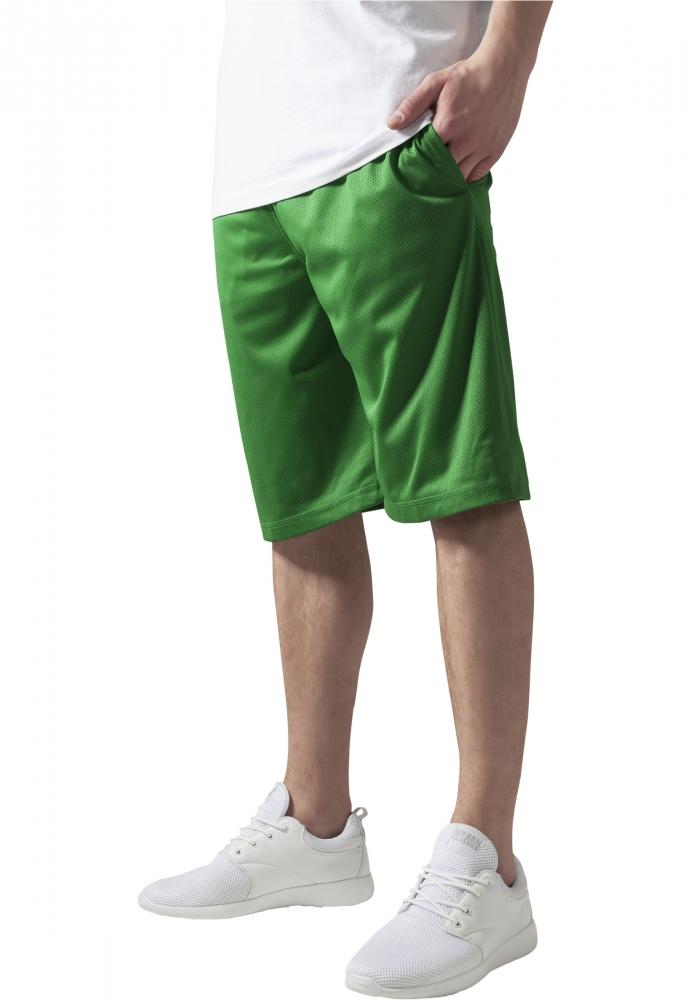 Pantaloni Scurti Baschet Mesh Cu Buzunare Verde Urban Classics