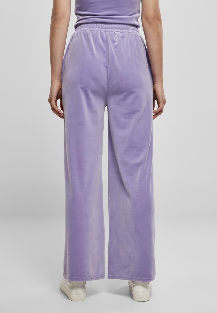 Pantaloni sport urban talie inalta Straight Velvet dama Urban Classics