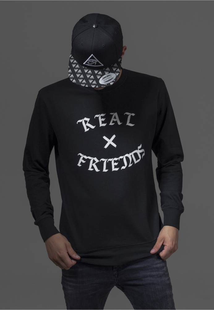 Real Friends Crewneck Negru Mister Tee