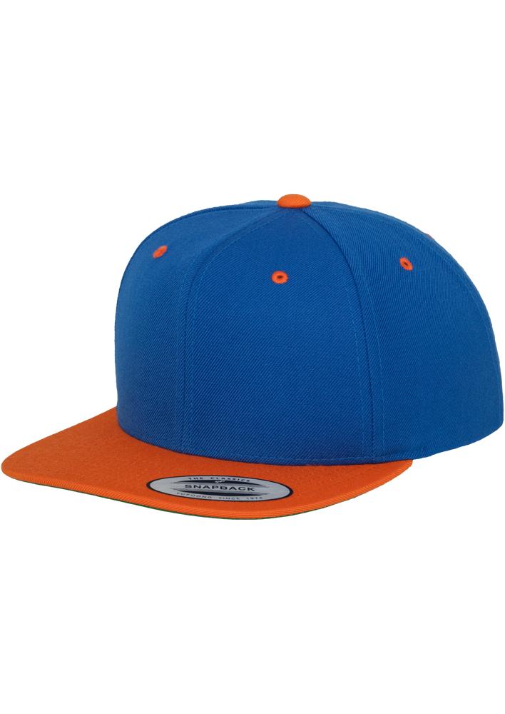 Sepci Rap Flexfit Snapback Albastru Roial-portocaliu