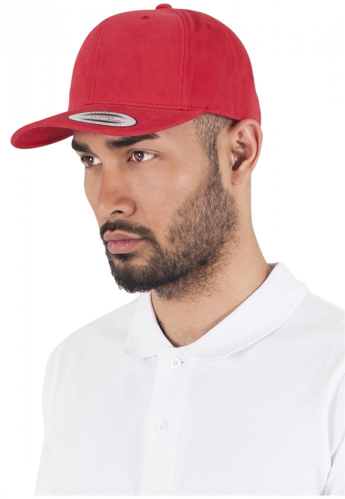Sepci Originale Brushed Cotton Twill Mid-profile Rosu Flexfit