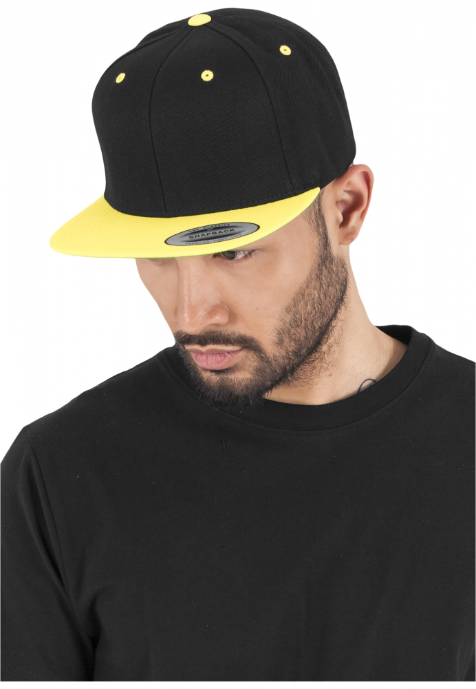 Sepci Rap Snapback Classic 2-tone Negru-galben Neon Flexfit